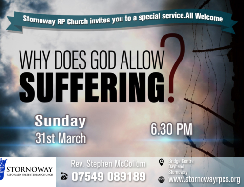 Special Service – Why Does God Allow Suffering?